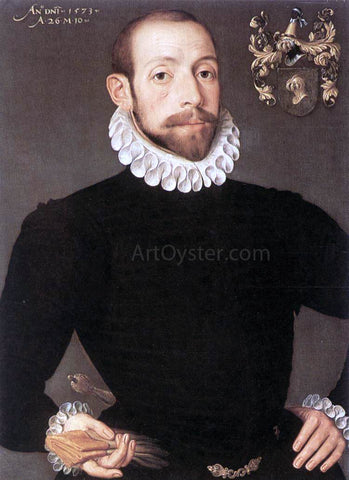 Pieter Pourbus Portrait of Olivier van Nieulant - Hand Painted Oil Painting