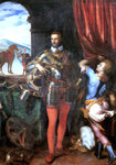 Giulio Campi Portrait of Ottavio Farnese - Hand Painted Oil Painting
