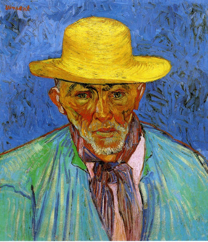 Vincent Van Gogh Portrait of Patience Escalier, Shepherd in Provence - Hand Painted Oil Painting