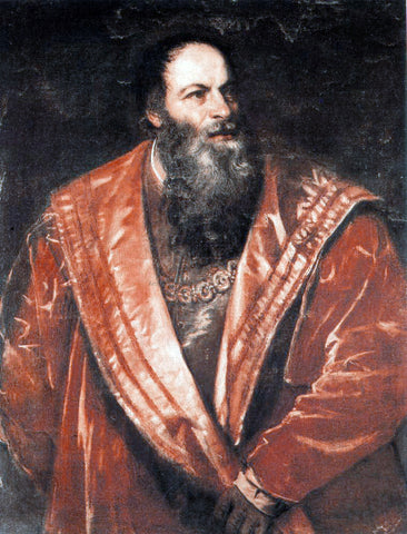 Titian Portrait of Pietro Aretino - Hand Painted Oil Painting