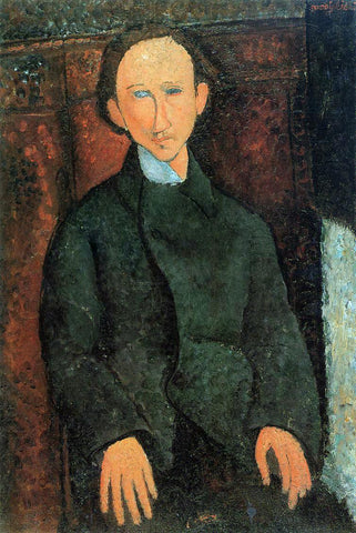 Amedeo Modigliani Portrait of Pinchus Kremenge - Hand Painted Oil Painting