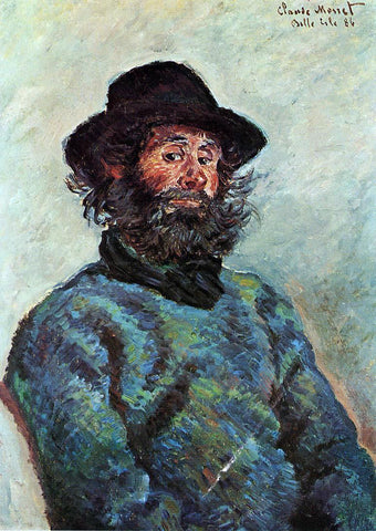 Claude Oscar Monet Portrait of Poly, fisherman at Kervillaouen - Hand Painted Oil Painting