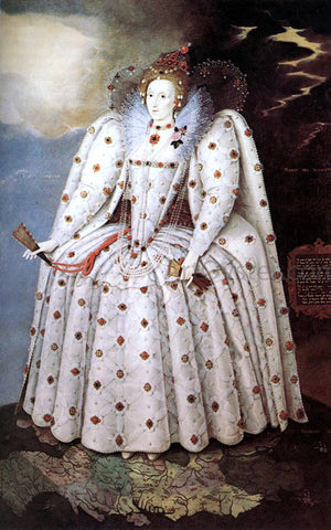 The Younger Marcus Gheeraerts Portrait of Queen Elisabeth I - Hand Painted Oil Painting