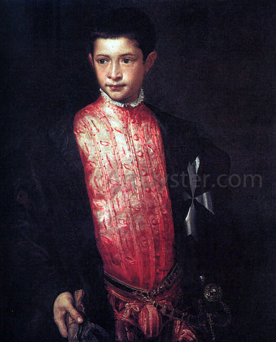 Titian Portrait of Ranuccio Farnese - Hand Painted Oil Painting