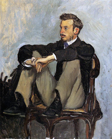 Jean Frederic Bazille Portrait of Renoir - Hand Painted Oil Painting