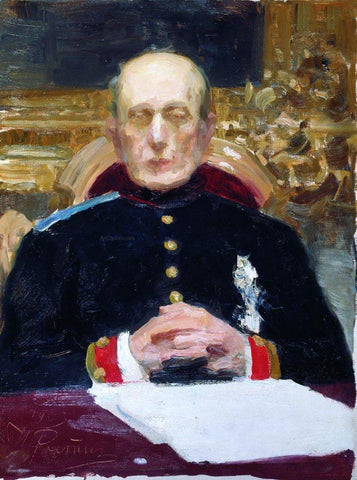 Ilia Efimovich Repin Portrait of Russian statesman and jurist Konstantin Petrovich Pobedonostsev, Study - Hand Painted Oil Painting