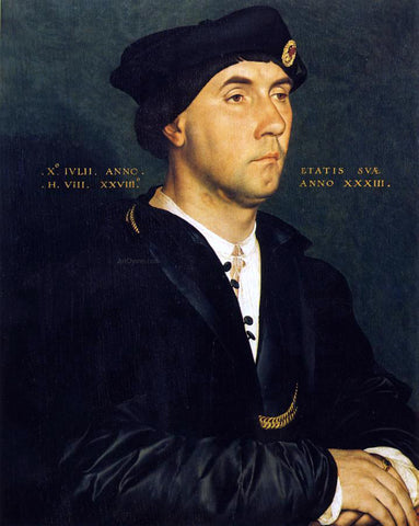 The Younger Hans Holbein Portrait of Sir Richard Southwell - Hand Painted Oil Painting