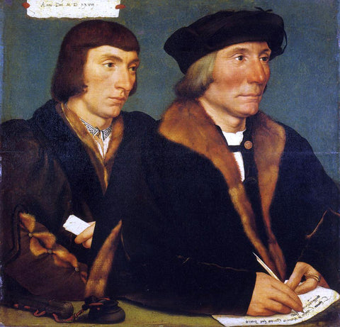 The Younger Hans Holbein Portrait of Sir Thomas Godsalve and His Son John - Hand Painted Oil Painting