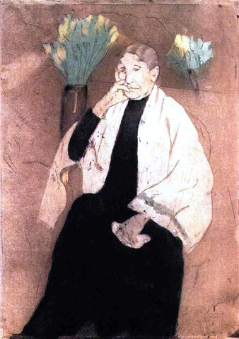 Mary Cassatt Portrait of the Artist's Mother - Hand Painted Oil Painting