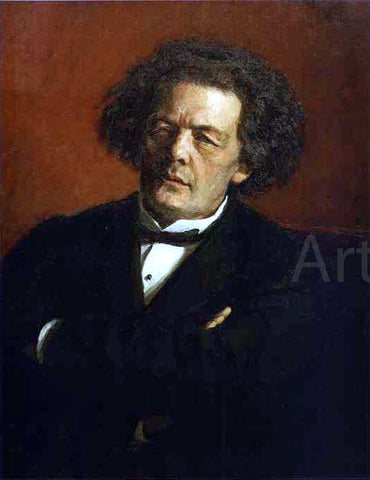 Ilya Repin Portrait of the Composer Anton Rubinstein - Hand Painted Oil Painting