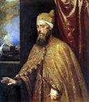 Titian Portrait of the Doge Francesco Venier - Hand Painted Oil Painting