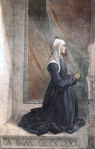 Domenico Ghirlandaio Portrait of the Donor Nera Corsi Sassetti - Hand Painted Oil Painting