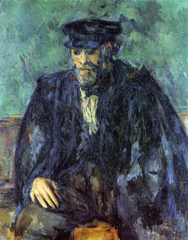 Paul Cezanne Portrait of the Gardener Vallier - Hand Painted Oil Painting