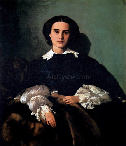 Antonio Puccinelli Portrait of the Noblewoman Marrocchi - Hand Painted Oil Painting