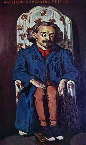 Paul Cezanne Portrait of the Painter, Achille Emperaire - Hand Painted Oil Painting