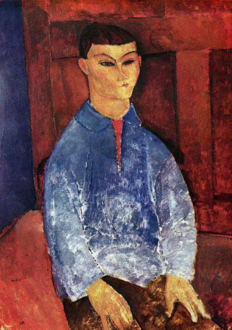 Amedeo Modigliani Portrait of the Painter Moise Kisling - Hand Painted Oil Painting