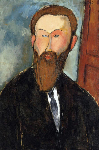Amedeo Modigliani Portrait of the Photographer Dilewski - Hand Painted Oil Painting