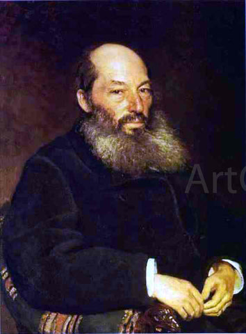 Ilia Efimovich Repin Portrait of the Poet Afanasy Fet - Hand Painted Oil Painting
