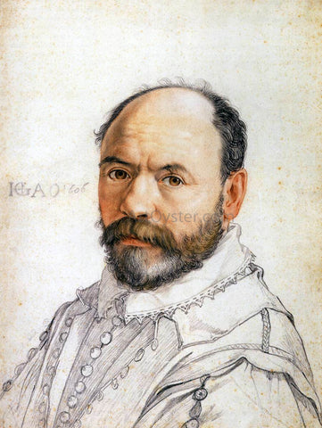 Hendrick Goltzius Portrait of the Sculptor Pierre Francheville - Hand Painted Oil Painting