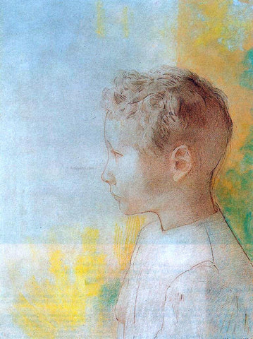 Odilon Redon Portrait of the Son of Robert de Comecy - Hand Painted Oil Painting