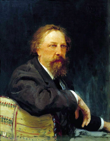 Ilia Efimovich Repin Portrait of the Writer Aleksey Konstantinovich Tolstoy - Hand Painted Oil Painting