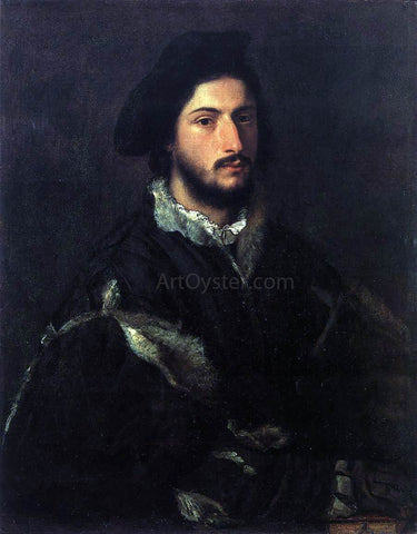 Titian Portrait of Tomaso or Vincenzo Mosti - Hand Painted Oil Painting