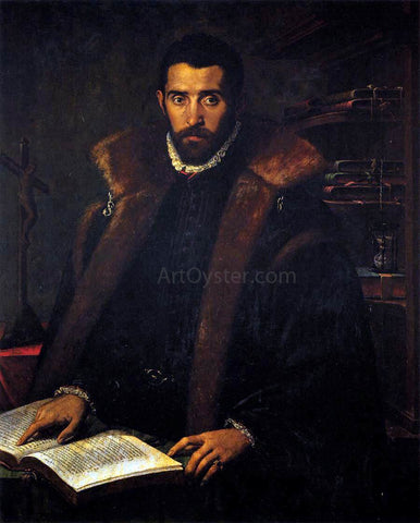 Unknown (4) Masters Portrait of Torquato Tasso - Hand Painted Oil Painting