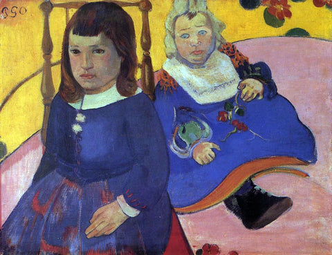 Paul Gauguin Portrait of Two Children (also known as Paul and Jean Schuffenecker) - Hand Painted Oil Painting