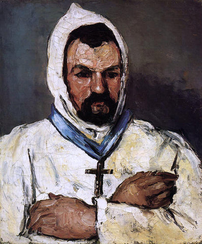 Paul Cezanne Portrait of Uncle Dominique as a Monk - Hand Painted Oil Painting
