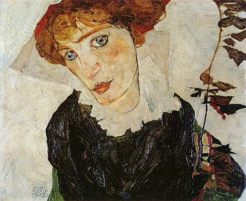 Egon Schiele Portrait of Valerie Neuzil - Hand Painted Oil Painting