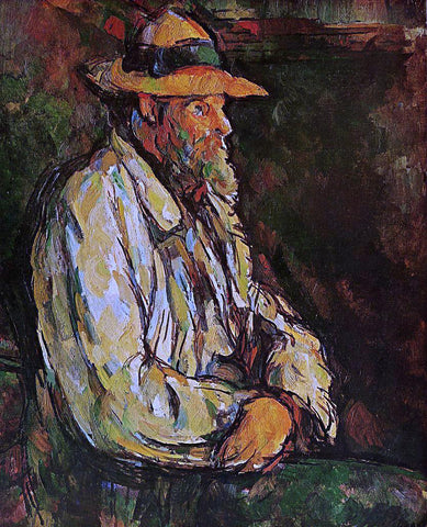 Paul Cezanne Portrait of Vallier - Hand Painted Oil Painting