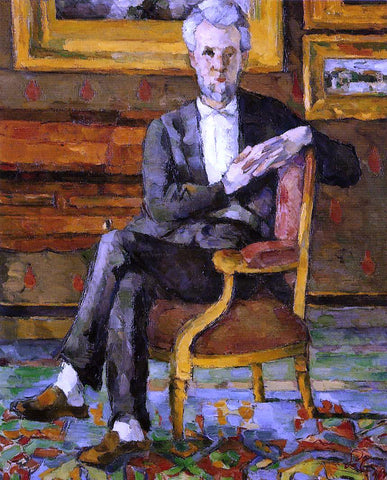 Paul Cezanne Portrait of Victor Chocquet, Seated - Hand Painted Oil Painting