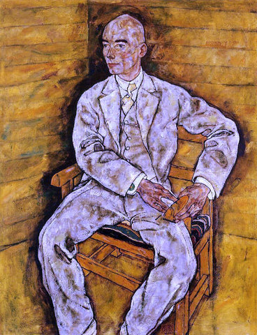 Egon Schiele Portrait of Victor Ritter von Bauer - Hand Painted Oil Painting