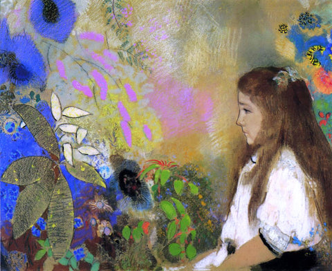 Odilon Redon Portrait of Yseult Fayet - Hand Painted Oil Painting