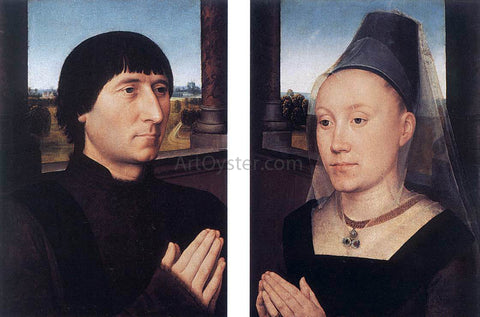 Hans Memling Portraits of Willem Moreel and His Wife - Hand Painted Oil Painting