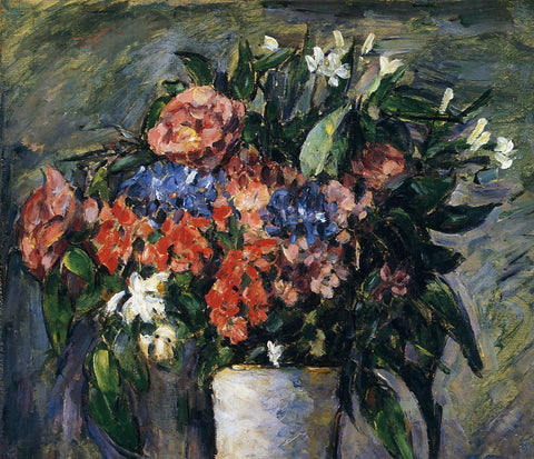Paul Cezanne Pot of Flowers - Hand Painted Oil Painting