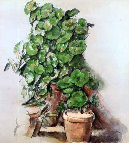 Paul Cezanne Pots of Geraniums - Hand Painted Oil Painting