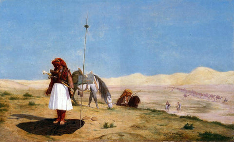 Jean-Leon Gerome Prayer in the Desert - Hand Painted Oil Painting