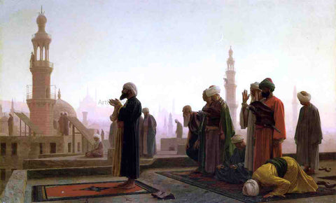 Jean-Leon Gerome Prayer on the Rooftop (in Cairo) - Hand Painted Oil Painting