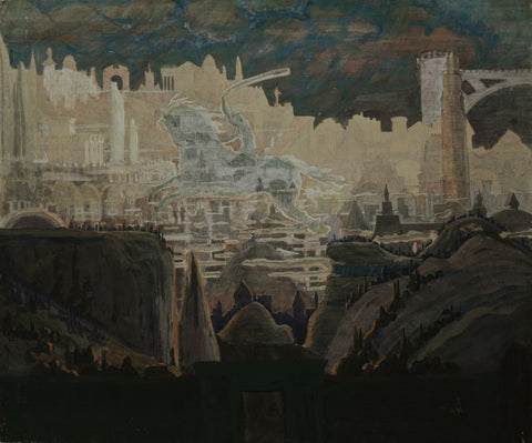 Mikalojus Ciurlionis Prelude the Knight Prelude - Hand Painted Oil Painting