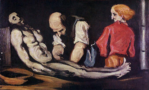 Paul Cezanne Preparation for the Funeral (also known as The Autopsy) - Hand Painted Oil Painting