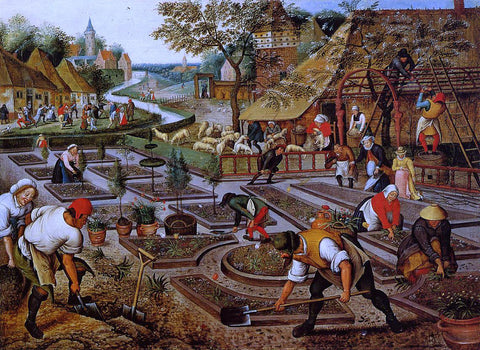 The Younger Pieter Bruegel Preparation of the Flower Beds - Hand Painted Oil Painting