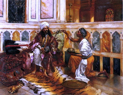 Rudolph Ernst Preparing the Hookah - Hand Painted Oil Painting