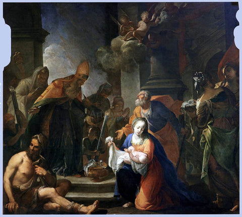 Andrea Celesti Presentation of Jesus at the Temple - Hand Painted Oil Painting