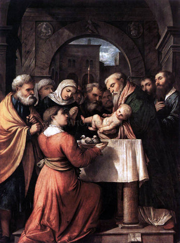 Girolamo Romanino Presentation of Jesus at the Temple - Hand Painted Oil Painting