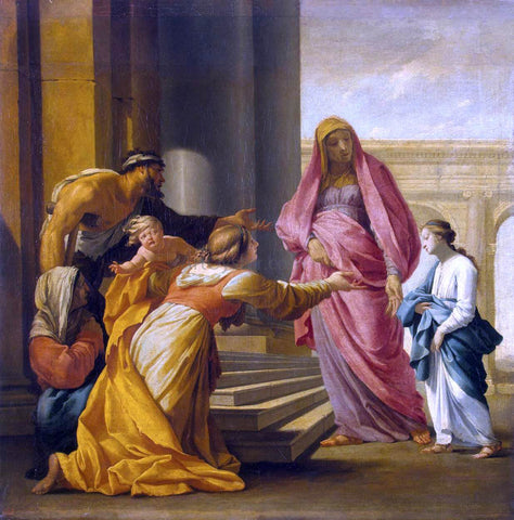 Eustache Le Sueur Presentation of the Virgin - Hand Painted Oil Painting