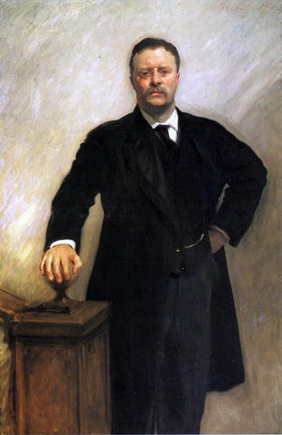 John Singer Sargent President Theodore Roosevelt - Hand Painted Oil Painting