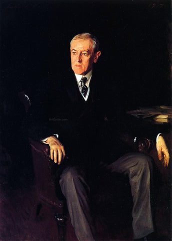 John Singer Sargent President Woodrow Wilson - Hand Painted Oil Painting