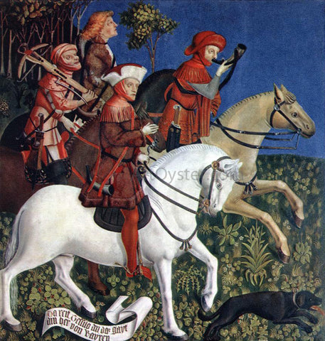 Master of the Polling Panels Prince Tassilo Rides to Hunting - Hand Painted Oil Painting