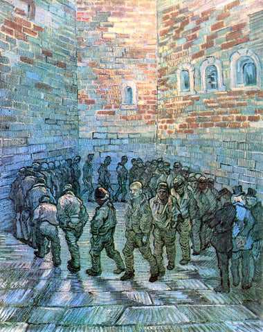 Vincent Van Gogh Prisoners Exercising (after Dore) - Hand Painted Oil Painting
